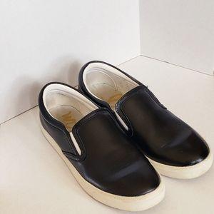 Sam Edelman Marvin Black Leather Slip on Sneakers